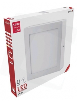 Avide LED Ceiling Surface Mounted Square ALU 18W WW 3000K