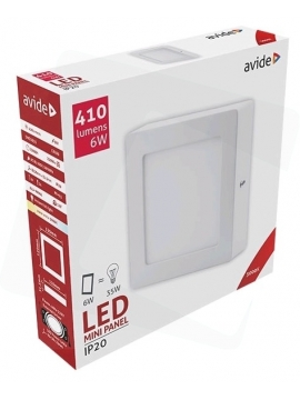 Avide LED Ceiling Surface Mounted Square ALU 6W WW 3000K