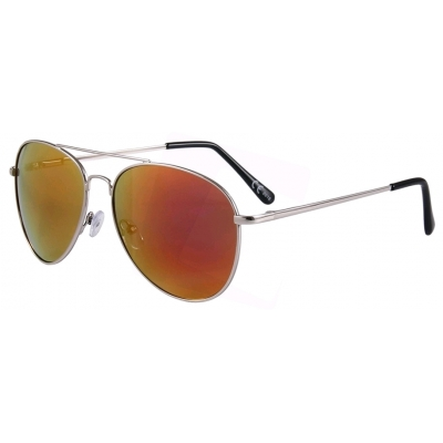 22646ae488 Eclipse Sunglasses Silver Copper frame with Gold-Red mirror lens