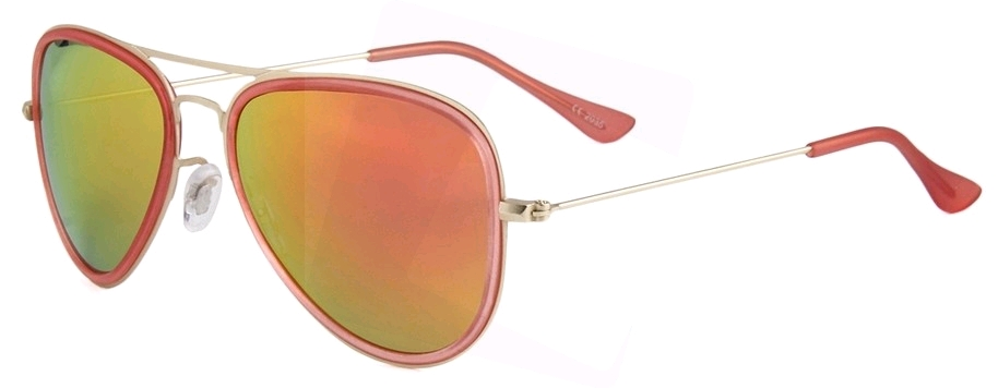 1f04cf92c1 Eclipse Sunglasses Matte Gold steel disc frames with Red Revo coating lens