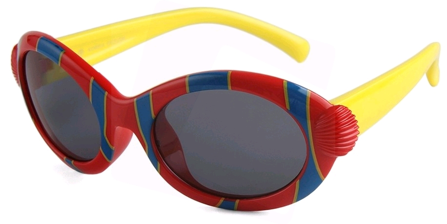 8f791bdffe Eclipse Sunglasses Kids Red silica frame with Yellow temple and Smoke lens